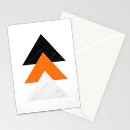 Forward arrows marble orange Stationery Cards