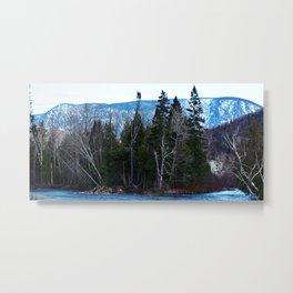 Blue Mountain River Metal Print