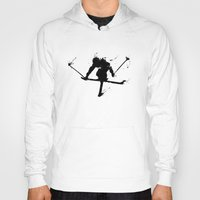 ski Hoodies featuring Ski jumper  by Richard Eijkenbroek