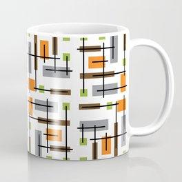 Mid Century Modern Geometric Pattern Coffee Mug