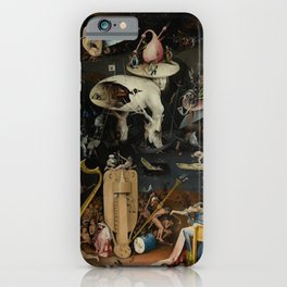 Hieronymus Bosch - The Garden of Earthly Delights - Panel 3 iPhone Case