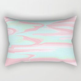 Abstract bush pink teal modern marble pattern Rectangular Pillow