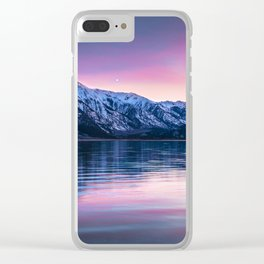 Sunset over twin lakes Clear iPhone Case