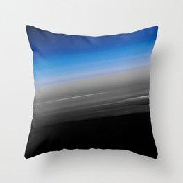 Blue Gray Smooth Ombre Throw Pillow