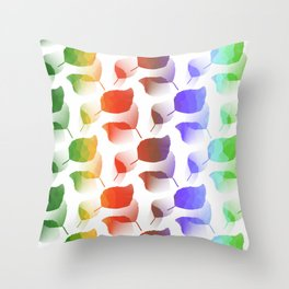 Leaves Descent Throw Pillow