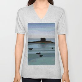 Fort View in Jersey Unisex V-Neck