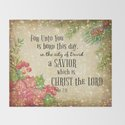Christmas Bible Verse Typography by quotelifeshop