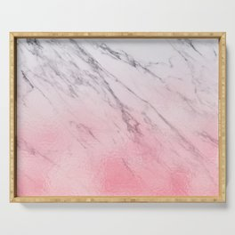 Cotton candy marble Serving Tray