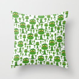 Population: Snood - Aliens - Outerspace - 57 Montgomery Ave Throw Pillow