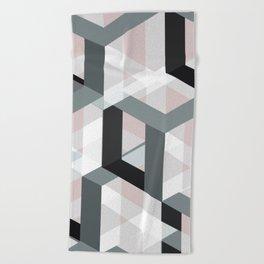 geometric 11 Beach Towel
