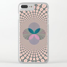 Fractal Abstract 12 Clear iPhone Case