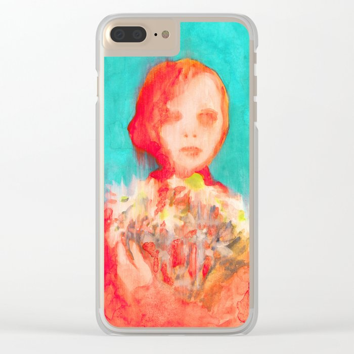 She Daisy Clear iPhone Case