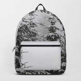 Winter Forest Fir Tree Snow II - Nature Photography Backpack