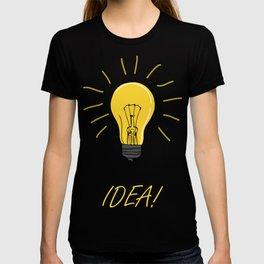 Idea! Print with a lamp bulb T-shirt