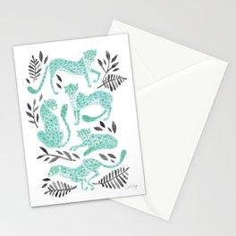 Cheetah Collection – Mint & Black Palette Stationery Cards