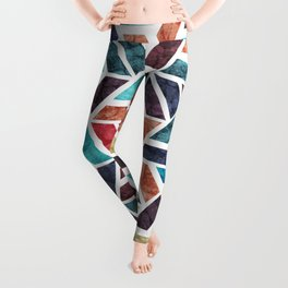 Seamless Colorful Geometric Pattern XVI Leggings