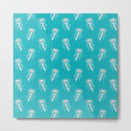 Jellyfish_Pattern Metal Print