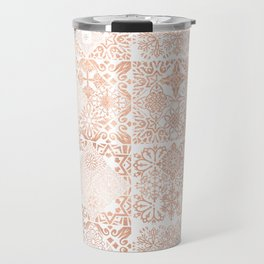 MOROCCAN TILES ROSEGOLD Travel Mug