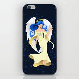 Blue Hair Angel iPhone Skin