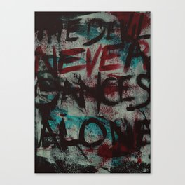 The Devil Never Dances Alone Canvas Print