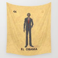 "obama Wall Tapestries featuring EL OBAMA by ""dfrnt"""