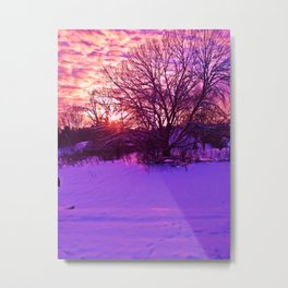KINGSPORT, TN - WINTER SUNSET Metal Print