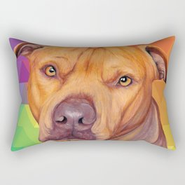Rainbow puppy Rectangular Pillow