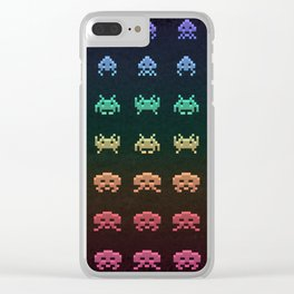 Invader Space Clear iPhone Case