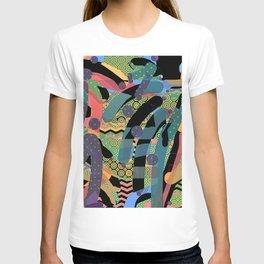 HODGE PODGE FIGURES IN LIMBO Design Illustration Pattern Print T-shirt