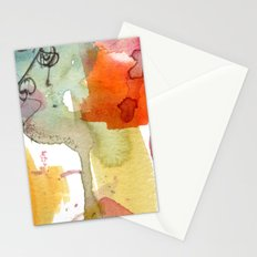 watercolour floral abstract Stationery Cards
