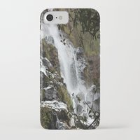 waterfall iPhone & iPod Cases featuring Waterfall by Four Hands Art
