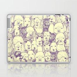 just alpacas purple cream Laptop & iPad Skin