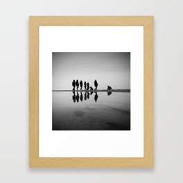 Strolling on the Beach Framed Art Print