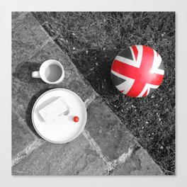 British Sunday - Still Life | Selective Red Canvas Print