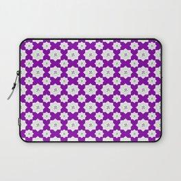 Lotus Flower Om Pattern on Purple Background Laptop Sleeve