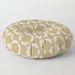 Teak Arts and Crafts Butterflies Floor Pillow