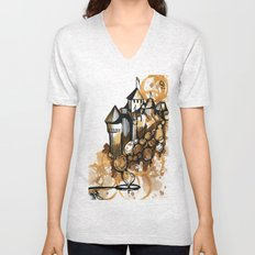 Castle float Unisex V-Neck
