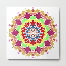 Indian mandala handmade Metal Print