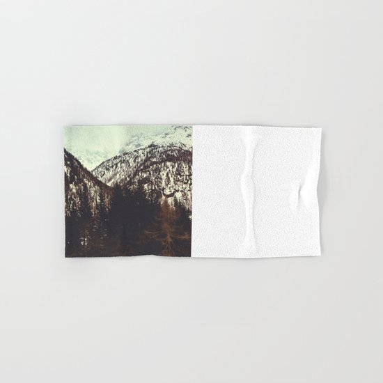 End of Winter in the Mountains Hand & Bath Towel