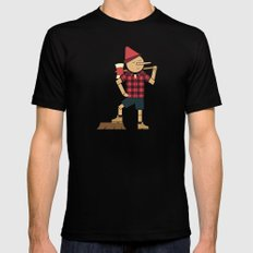 Wrong Guy For The Job Black MEDIUM Mens Fitted Tee