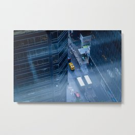 Taxicab of New York City Metal Print