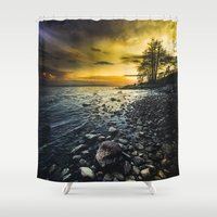 outdoor Shower Curtains featuring Aureus by HappyMelvin