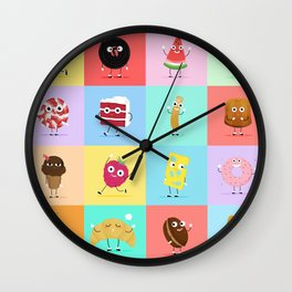 A Snack A Day Wall Clock