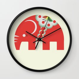 Swedish Elephant Wall Clock