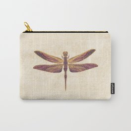 Art Nouveau Dragonfly In Purple Carry-All Pouch