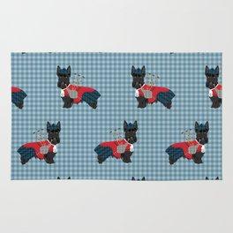 Scottish Terrier dog breed custom pet portrait funny dog pattern dog gifts all breeds Rug
