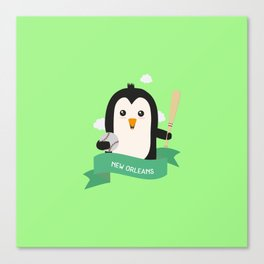 Baseball Penguin from NEW ORLEANS T-Shirt Canvas Print