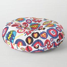Superhero Stickers Floor Pillow