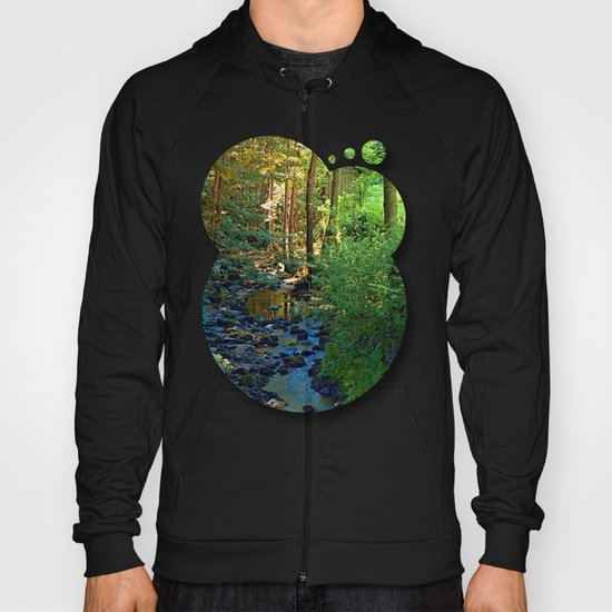 Forest, a river, a valley and summertime Hoody