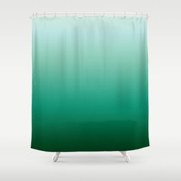Ombre Teal Green Gradient Pattern Shower Curtain
